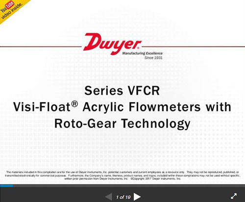 Series VFCR | Visi-Float® Acrylic Flowmeters with Roto-Gear